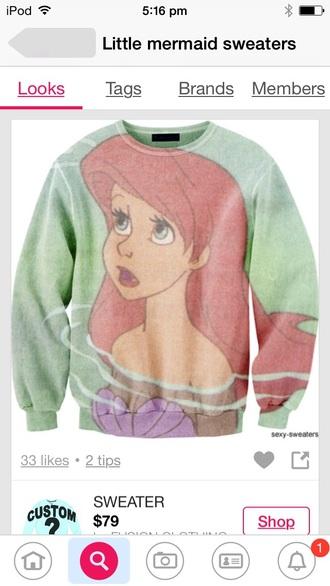 sweater sexy sweater the little mermaid custom sweatshirt