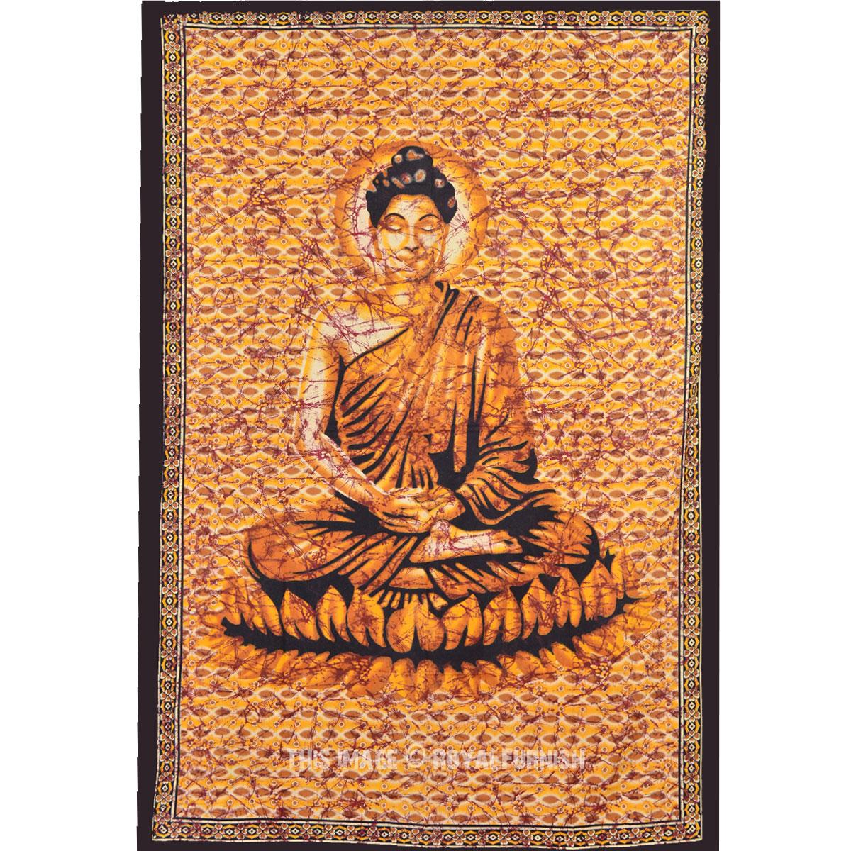 Buddha Tapestry Wall Hangings lotus sitting meditation buddha tapestry wall hanging