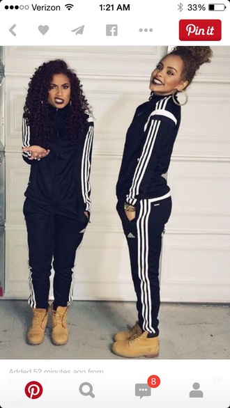 leggings the adidas pants jumpsuit pants jacket entire outfit adidas tracksuit clothes top pants adidas tracksuit bottom adidas jacket adidas sweater adidas varsity jacket adidas tracksuit adidas jackets sweatsuit adidas leggings black jacket black pants sweatpants adidas sunglasses tracksuit