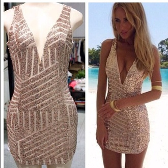 gold gold sequins sequin dress sequins dress hot mini dress party dress evening dress