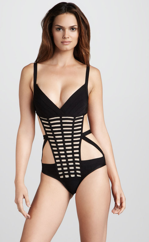 Black Bandage Cross Grid Bikini Swimsuit  — GIRL CRUSH BOUTIQUE