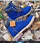 timberlands boots,boots,blue timberlands