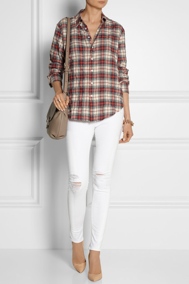 Band of Outsiders | Plaid woven cotton shirt | NET-A-PORTER.COM