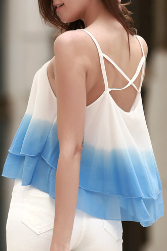 top dressfo tie dye ombre girly strappy tumblr