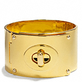 Coach :: WIDE TURNLOCK PLAQUE BRACELET