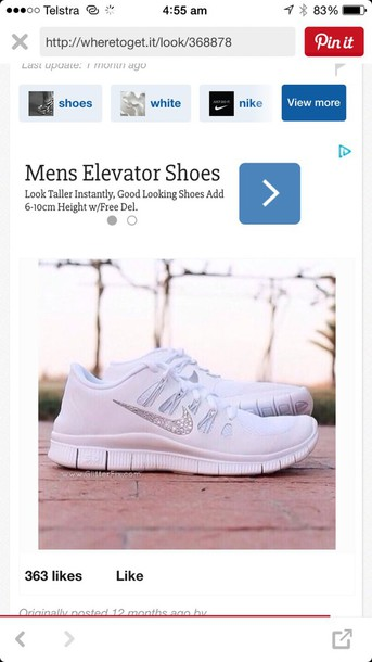 shoes white nike running shoes dimond
