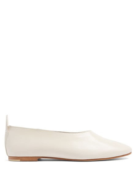 Joseph ballet flats ballet flats leather cream shoes