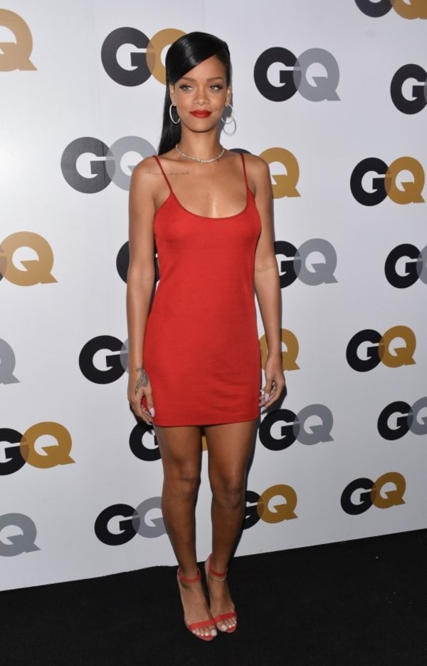 dress rihanna red cute short jewels celebrity style celebstyle for less rihanna style jewelry red rihanna slip dress red dress camila alves nude nude dress long sleeves all nude everything dressofgirl celebrity slip dress calvin klein dress calvin klein mini dress spaghetti strap red carpet dress high heel sandals sandals red sandals hoop earrings earrings hairstyles red slip dress short dress spaghetti straps dress red high heel sandals All red outfit