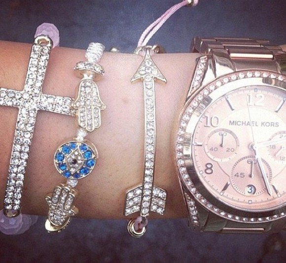 jewels bracelets bangles gold cross diamonds
