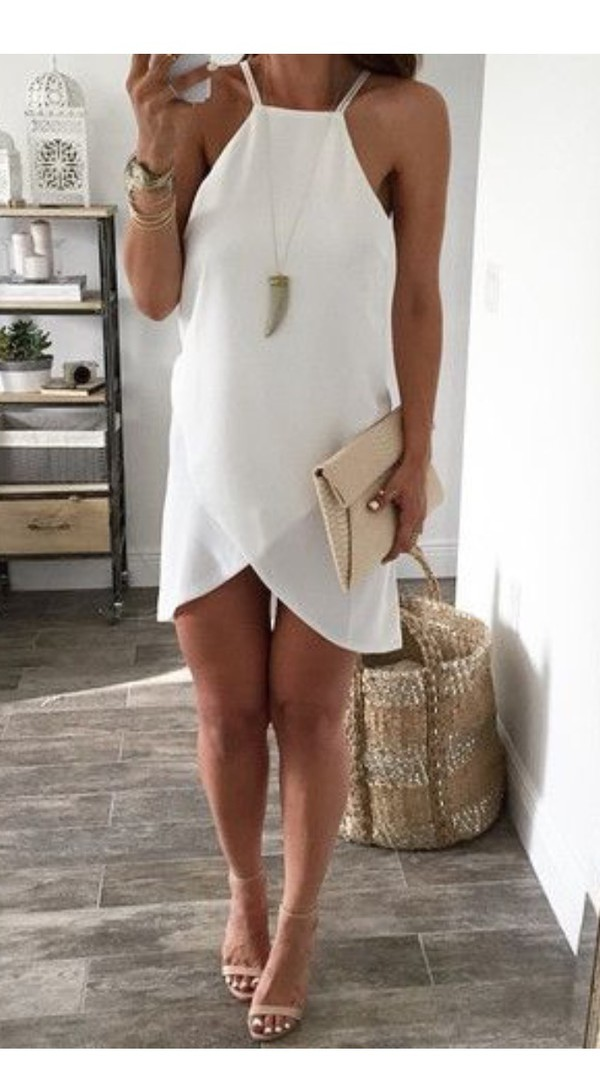 Mia White Lace Shift Dress