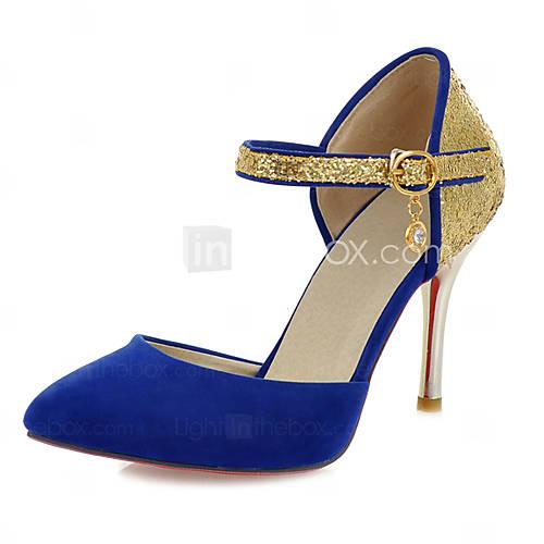 [usd $ 32.99] leatherdame stiletto hæl heels pumps / hæler sko (flere farger)