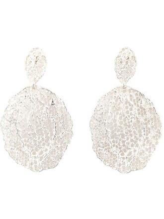 vintage earrings lace metallic jewels