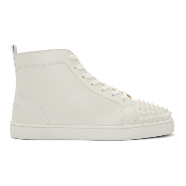 high spikes sneakers white shoes
