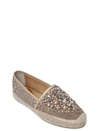espadrilles lace beige shoes