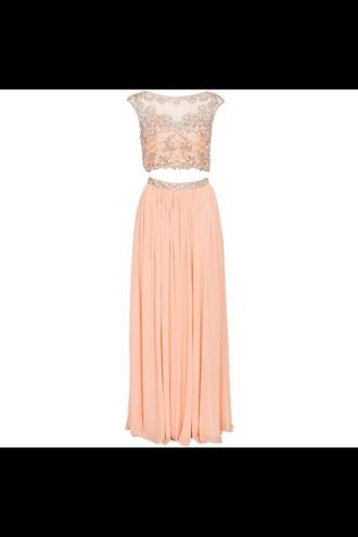 dress rose pastel prom dress