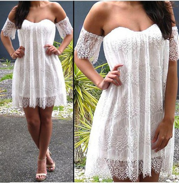 dress white white dress cute dress girly dress summer dress dress summer outfits