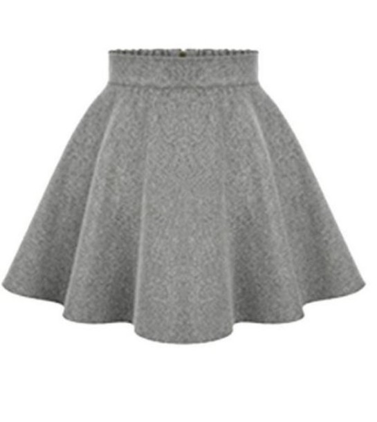 Skirt: gray skirt, light gray skirt, grey skirt, grey mini skirt ...