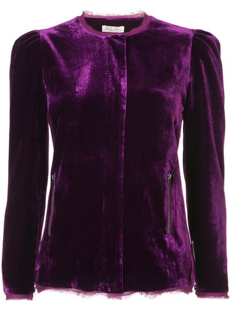jacket women silk purple pink