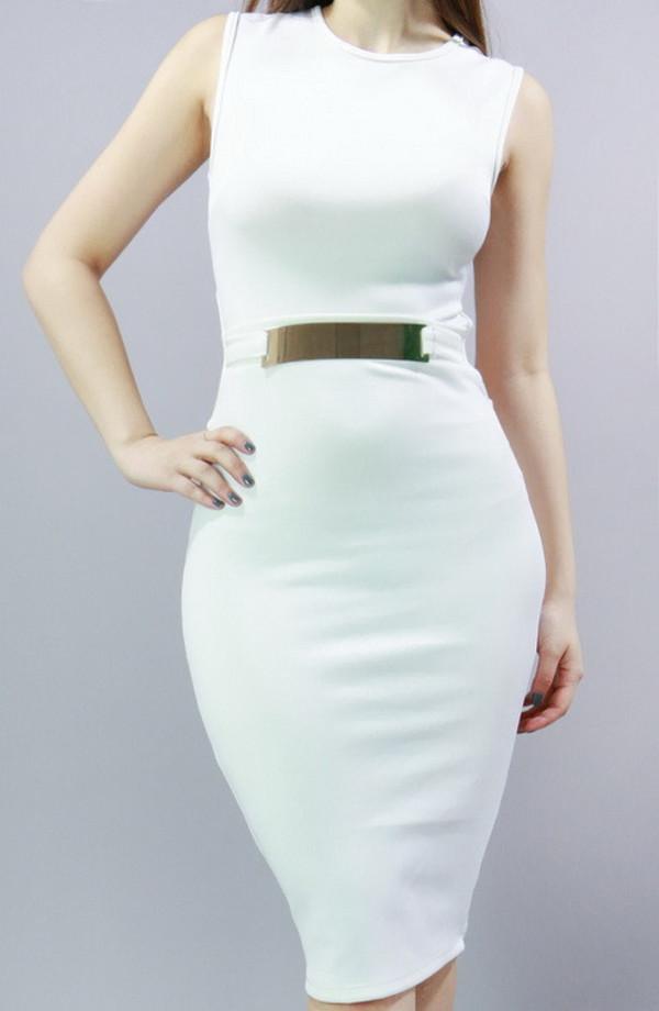 1d2cd2f3cbc4 dress cutedressboutique cute dress white dress gold belt cute trendy sale bodycon  dress mididress trending dress.