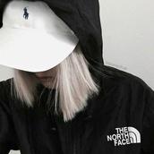 ralph lauren,north face,black and white,streetwear,sportswear,sporty,windbreaker