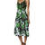 SHAKUHACHI PHOTOGRAPHIC GREEN CAMI MIDI DRESS - GREEN MULTI