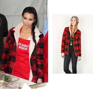 coat plaid kim kardashian lumberjack fall outfits winter outfits