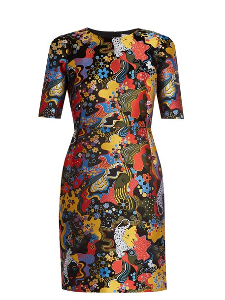 MARY KATRANTZOU dress short jacquard black