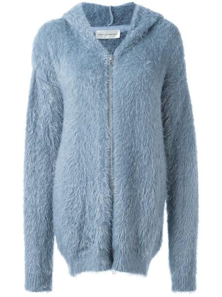 9284d5d898f Faith Connexion Faith Connexion faux fur zipped hoodie in blue