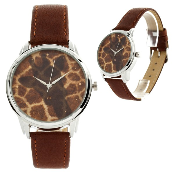 jewels ziziztime watch watch brown giraffe ziz watch