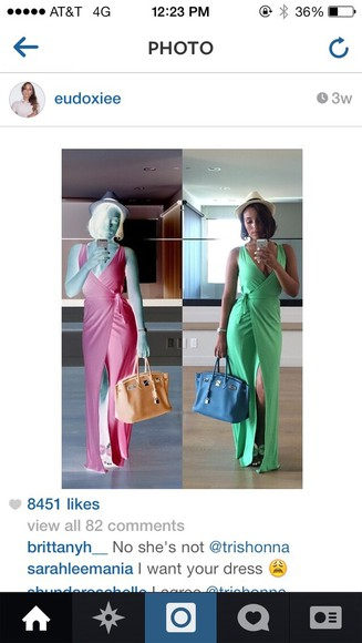 green dress split dress draped dress