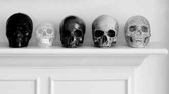 jewels skull diamonds black white silver cool pretty home accessory dekoration home decor head gold skull heads bronce halloween decor