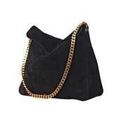 black bag,gold chain,bag,chain bag,black,sammet,mocka,nice