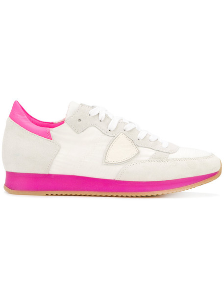 Philippe Model women sneakers leather white cotton shoes