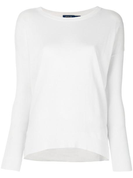 Polo Ralph Lauren jumper women white wool sweater