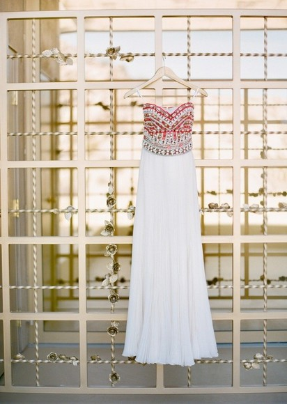 dress prom dress sparkle dress white dress pink need this in my life