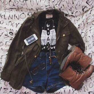 jacket t-shirt jeans necklace denim phone iphone case boots glass stone jewels
