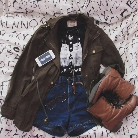 iphone case phone jacket t-shirt jeans denim boots glass stone jewels necklace