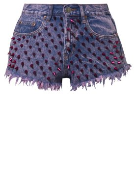 Bitching & Junkfood KAREKARE SPIKE - Denim shorts - pink - Zalando.co.uk