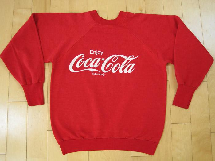Tshirt Time Machine > SUPER DOPE!! 80s vintage COCA COLA SWEAT SHIRT coke SODA POP medium