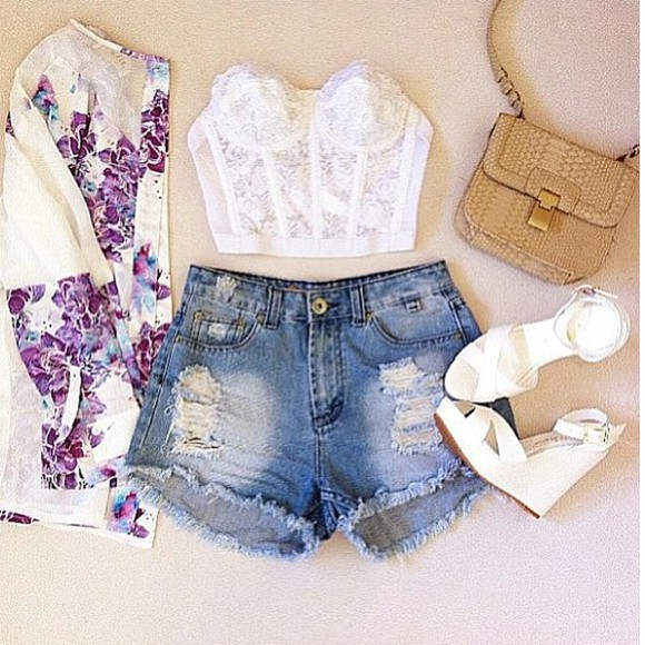blouse High waisted shorts pure young thug summer outfits