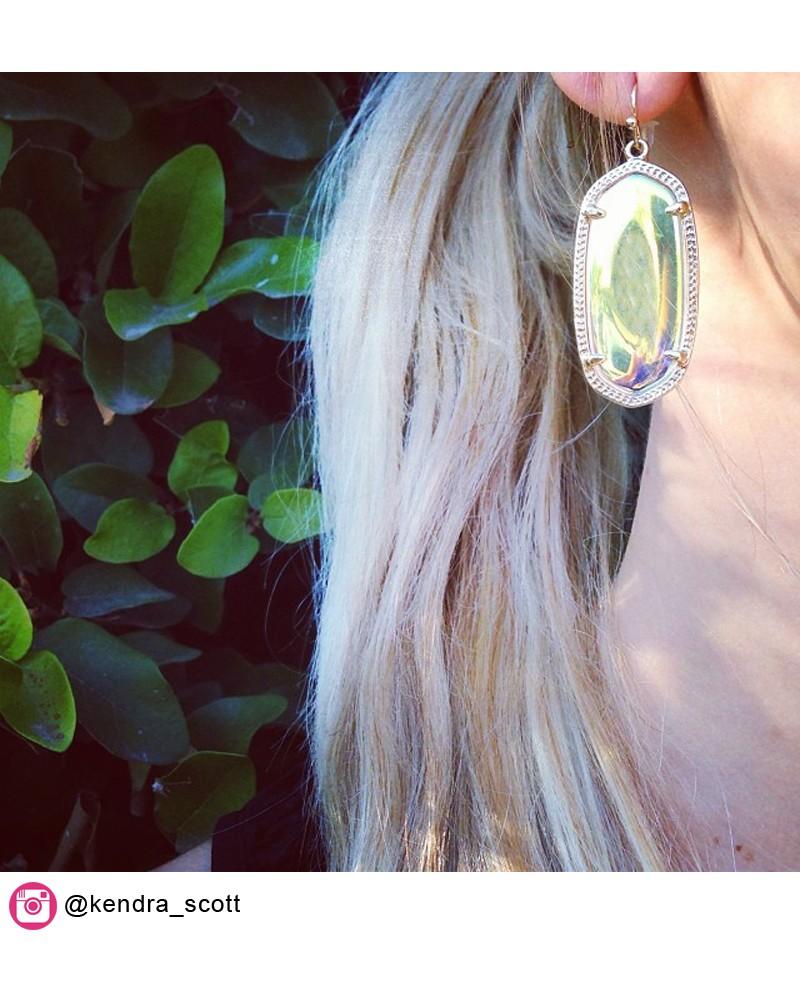 Elle Earrings in Clear Iridescent - Kendra Scott Jewelry