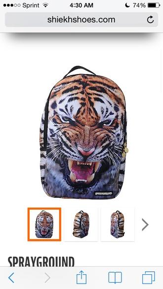 bag tiger face tiger bag backpack sprayground