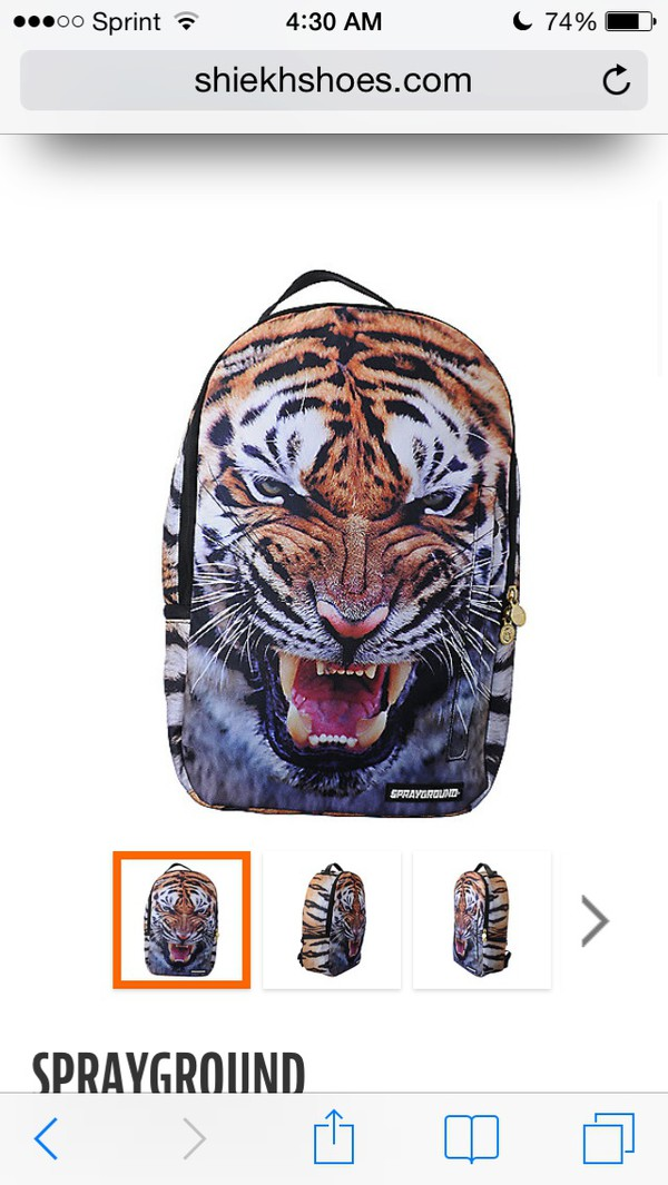 bag tiger face tiger bag backpack sprayground