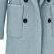 Blue lapel long sleeve pockets woolen coat - sheinside.com