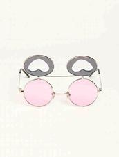sunglasses,kawaii,pink,pastel,vintage,soft grunge,kawaii grunge,pastel pink,jewels