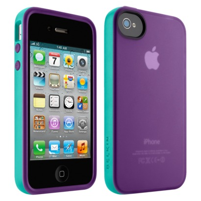 Belkin Grip Candy Case for iPhone4 - Purple/Blue... : Target