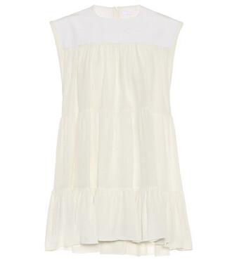 silk beige dress