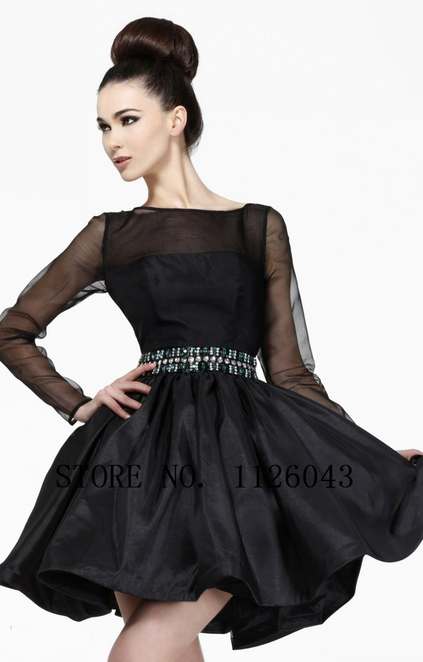 The Black Above-Knee Party Dresses