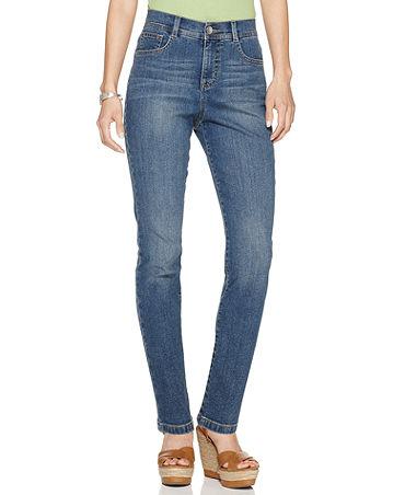 Style&co. Petite Jeans, Tummy Control Slim Leg, Faith Wash - Petite - Women - Macy's