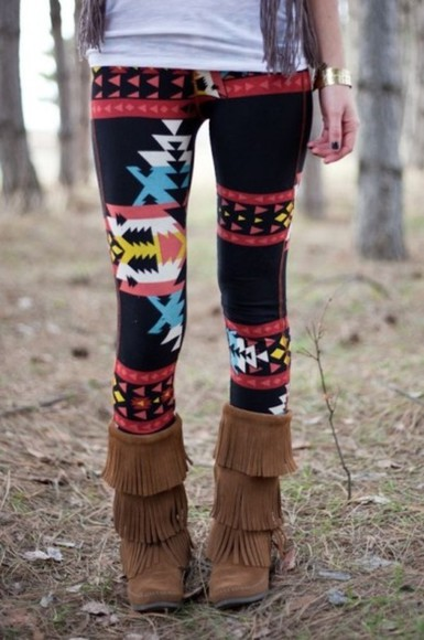 pants leggings aztec leggings aztec